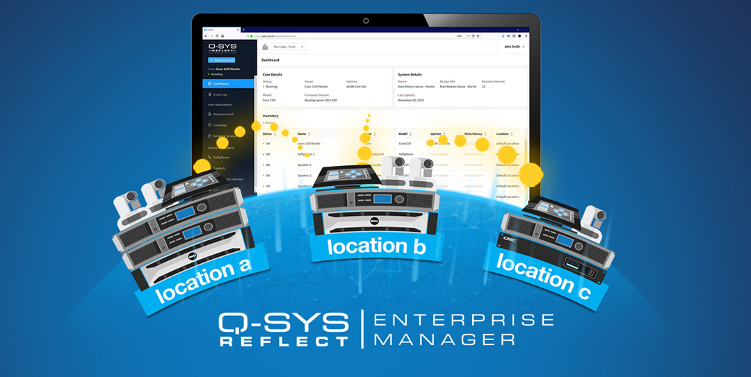 QSC Launches Q-SYS Reflect Enterprise Manager